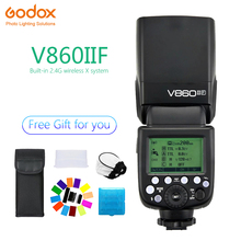 Godox Ving V860II V860II-F Speedlite flash TTL HSS 1/8000s 2.4G Wireless Camera photography for Fujifilm X-Pro2/X-T20 /X-T1/X-T2