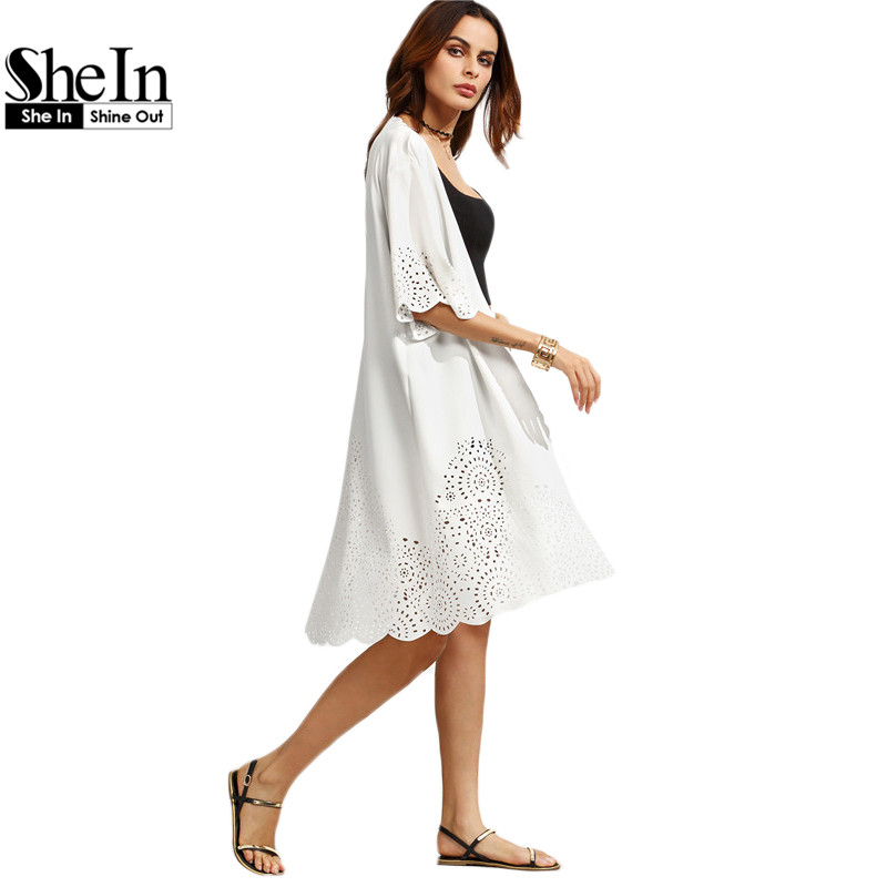 Shein camisa mujer casual de las señoras tops media manga ahueca hacia fuera bla