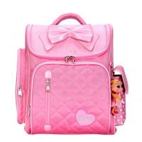 FashionOrthopedic Breathable Girl's Primary bags for Butterfly heart Children Backpacks for Girls School Bags 1 4 Grades Mochila