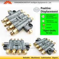 Detective volumetrische olie distributeur smering dispenser Overdrukventiel separator valve glijmiddel divider 4 outlet DT-400