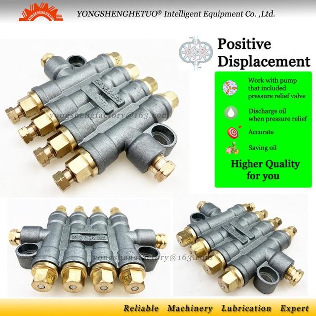 Distributeur dhuile volumétrique détective distributeur de lubrification soupape de séparation de décharge de pression diviseur de lubrifiant 4 DT 400 de sortie