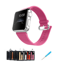 2016 new arrival real leather band for apple watch wrist i replacement official 5 colors giving connector