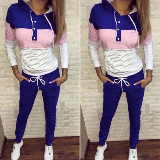 2 Piece Hoodie Sweatshirt + Pants Set