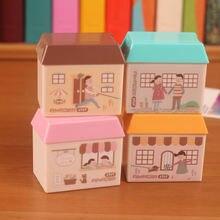 Канцтовары мультфильм маленький дом двойное отверстие точилка