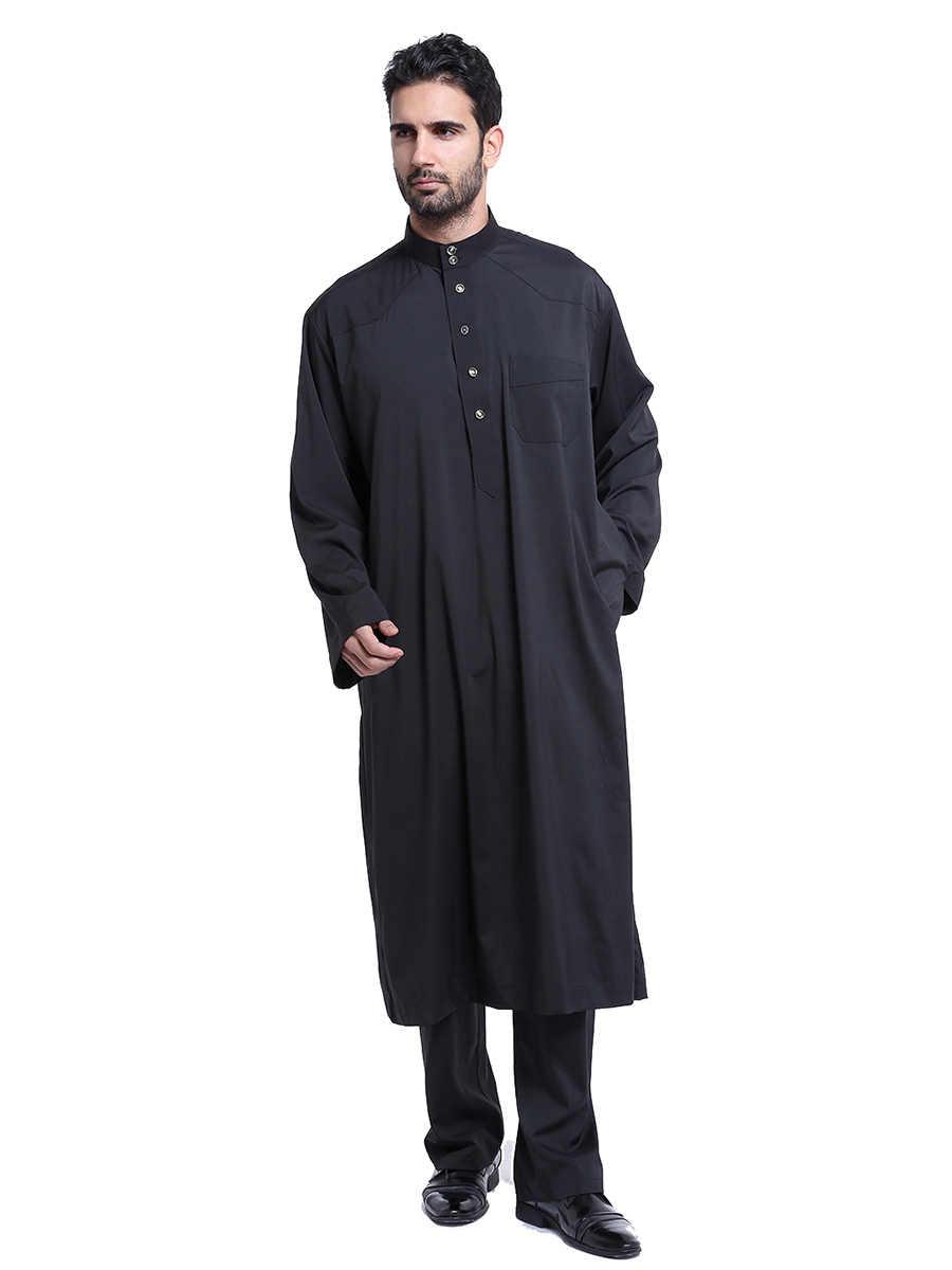 Gamis イスラム教徒の男性モロッコカフタン男性イスラム教徒ドレス 2 個アバヤフォーマルドレスパキスタン Musulman オム Jubah カフタンイスラム服