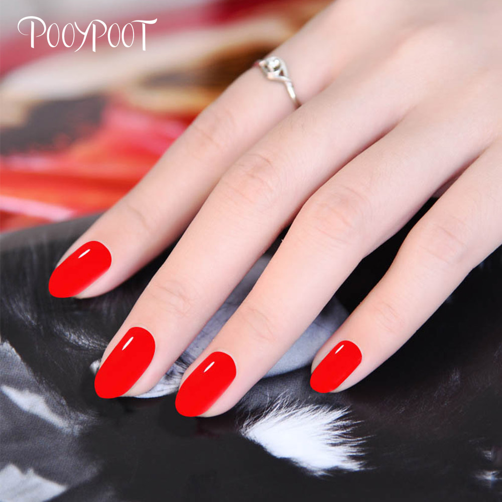 Pooypoot Color Coat Gel Nail Polish Red Pink Series Hybrid Gel ...