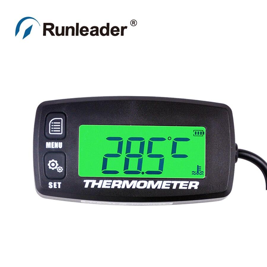 Digital TS002 PT100 20 300 temp sensor TEMP meter temperature thermometer for UTV Jet ski motorcycle