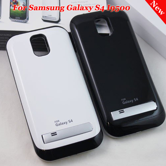 High Quality 3200mAh External Back up Battery Case For Samsung Galaxy S4 I9500 Black and White