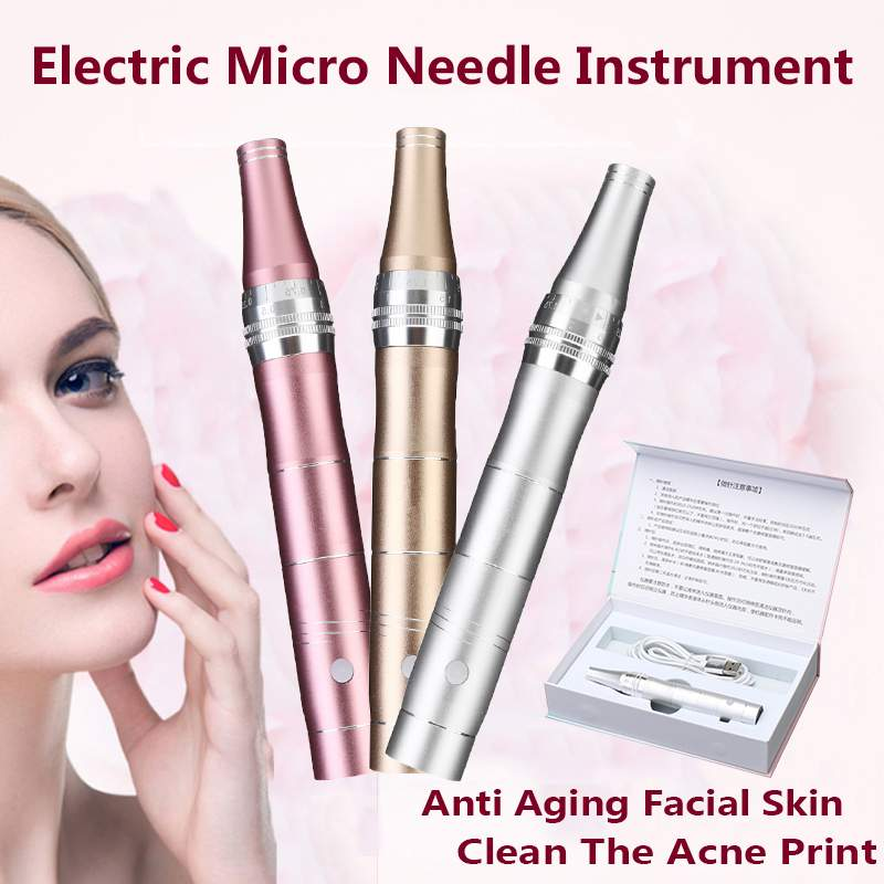 Micro Tiny Needles Stimulate Skin Tightening Remove Scar Reduce Wrinkles Scar Stretch Marks Removal Device Skin Dr Derma Pen(China)