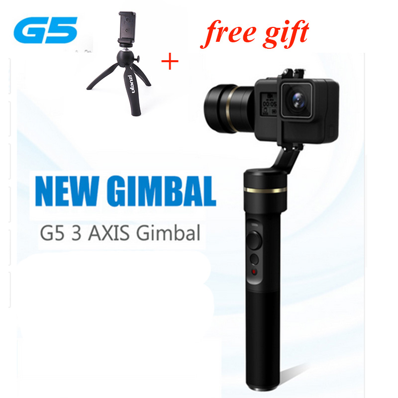 Feiyu G5 3-Axis Splash-Proof Handheld Gimbal for GoPro HERO 5 HERO 5/4/3+/3 Xiaomi yi Action Cameras Pk Zhiyun Z1 instock alexmos 32bits controller dys magic handheld gimbal for gopro 3 3 4 pk feiyu g4 3 axle gimbal