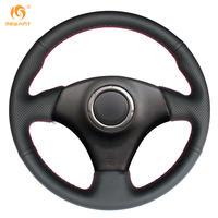 Black Artificial Leather Car Steering Wheel Cover For Toyota RAV4 2003 2005 Lexus IS200 300 No