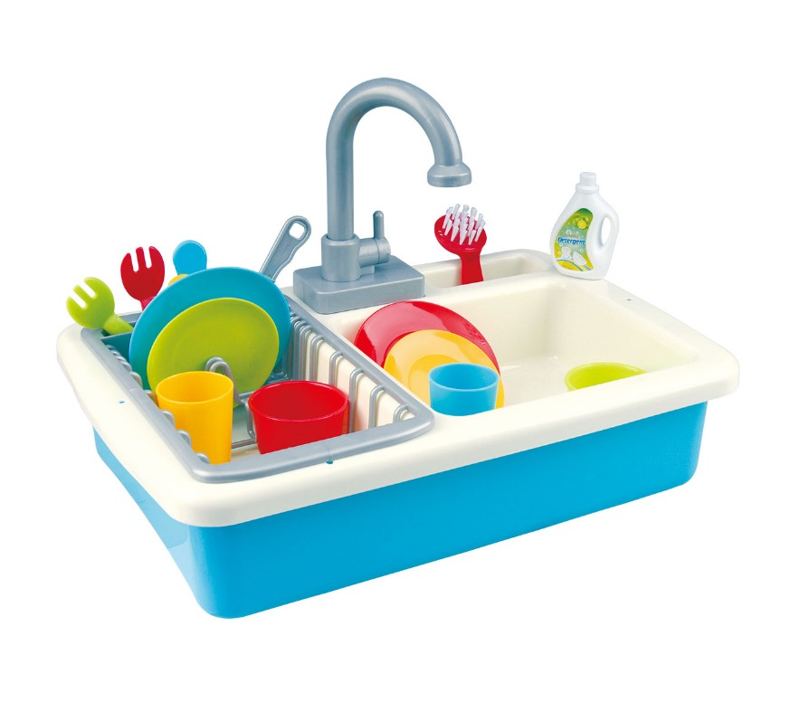 plastic Pretend Play Housekeeping Toys with washing pool model toys for baby kids gift