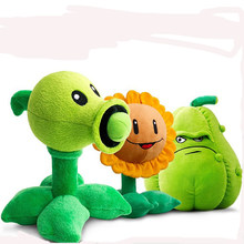 30cm Plants VS Zombies Plush Toys Cute Pea Shooter Sunflower Squash Soft Stuffed Plush Toys Doll Kids Gift(China)