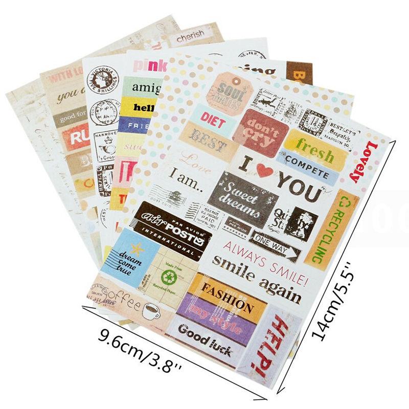 6 Sheets/set 14*9.6cm Calendar Paper Sticker Scrapbook Kids Children Diary Planner Sticky Photo Album Decoration Memo Pads