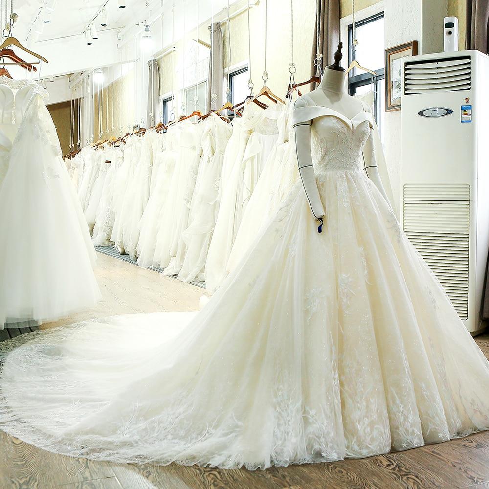 SL-130 skräddarsydd snörning klänning klänning brudklänning - Bröllopsklänningar - Foto 3