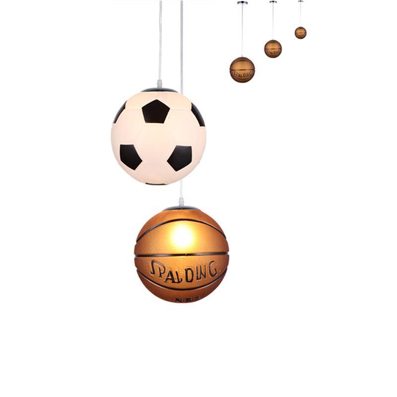 Kids Led Pendant Lights Basketball/Football Glass E27 LED bulb Cartoon Children's Room Bedroom Lamps Lighting EMS Free shipping kids led pendant lights basketball football glass e27 led bulb cartoon children s room bedroom lamps lighting ems free shipping