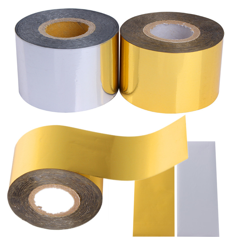 1 Roll Holo Starry Sky Nail Foil Tape 4cm*120m Holographic Nail Art Transfer Sticker Gold Silver Manicure Nail Art Decoration 1 roll 10m clear nail double side nail adhesive tape strips tips transparent manicure nail art tool