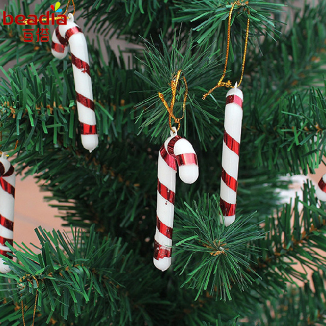 18pcs 7cm christmas candy cane ornaments festival party xmas tree hanging decoration christmas decoration supplies