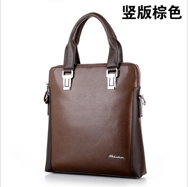HK dashan brand 2016 men's crossbody bags pu leather brown men's shoulder bags fashion business dress man handbags office 3colors hk dashan brand men s briefcase high quality pu leather business man 15 laptop handbags black fashion casual male bags