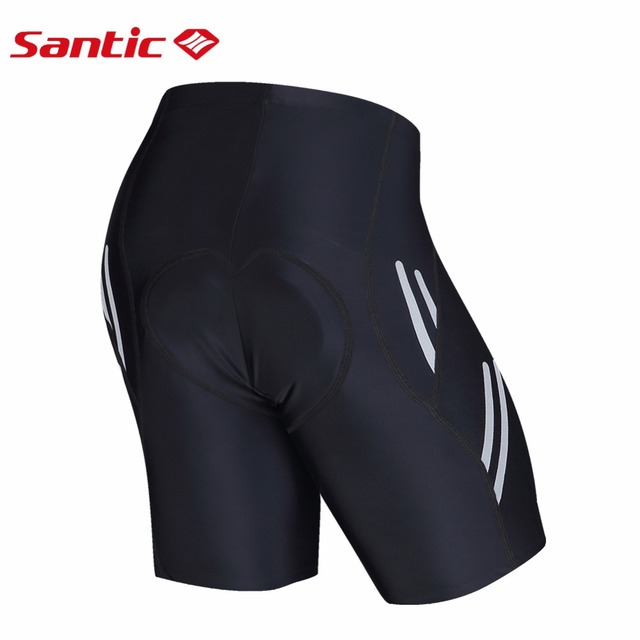 Santic Men Cycling Padded Shorts Coolmax 4D Pad Shockproof SANTIC R-FEEL Anti-pilling SANTIC AIRFREE Biking Riding Short KS007