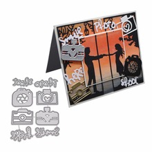 Camera Metal Cutting Dies Stencil DIY Scrapbooking Album Stamp Paper Card Embossing Craft Decor
