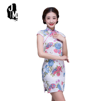 New Summer Women Cheongsam Lady Chinese Style Vestido Female High Neck Bodycon Chi Pao Sexy Traditional