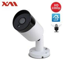 Caméra de vidéosurveillance Bullet H.265 + 1080P POE audio IP 2MP, XM H.265 et Vision nocturne, ONVIF 2.0 pour système POE NVR, étanche, extérieur