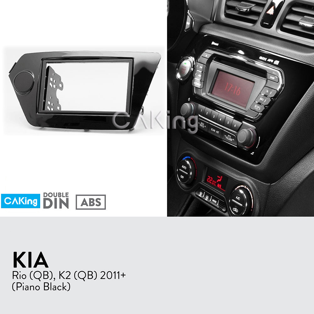 Car Fascia Radio Panel for KIA Rio QB 2011 2017 K2 QB 2011 Glossy Black Dash