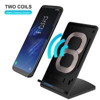 KISSCASE Smart IC Veloce QI Caricabatterie Wireless Per Il Samsung Galaxy Note 8 S8 Più S7 Per HTC Nokia Caricatore del USB di Ricarica Rapida WireLess