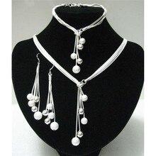 Большая распродажа, женский браслет je925 из серебра, полированный браслет, y-образное ожерелье, серьги, посеребренные бусины, африканские ювелирные изделия