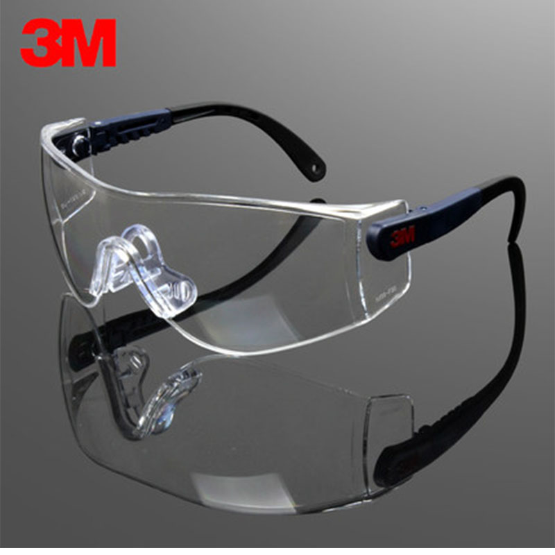 3M UV 99.9% Protective Glasses For Work 10196  Anti-Fog Coating Poly-carbonate Lens Clear Lab Glasses GM09251