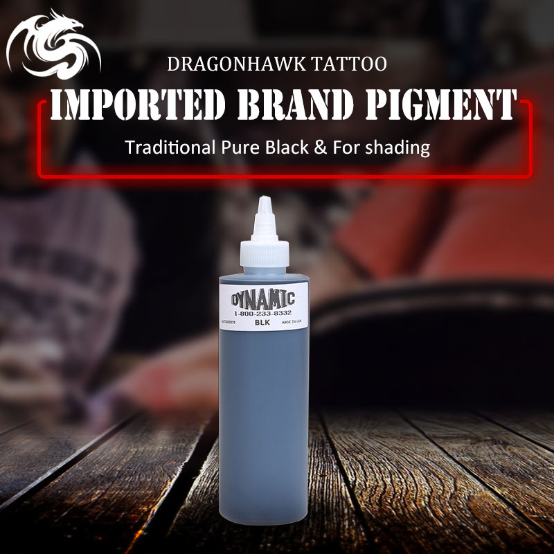 High Quality Dynamic Tattoo Ink for Tattoo Kit Black Colos 8OZ Tattoo Pigment Original Import Supplies