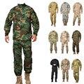 Woodland camo ACU Uniforme militar, ejército combate uniforme, traje de caza, Wargame, COAT + PANTS