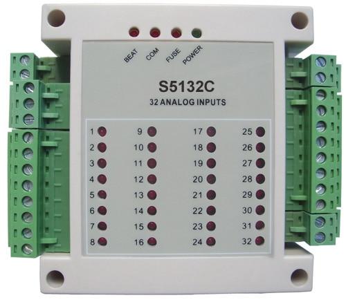 32 4 20ma Текущий Модуль ввода сбора данных, аналоговый модуль ввода