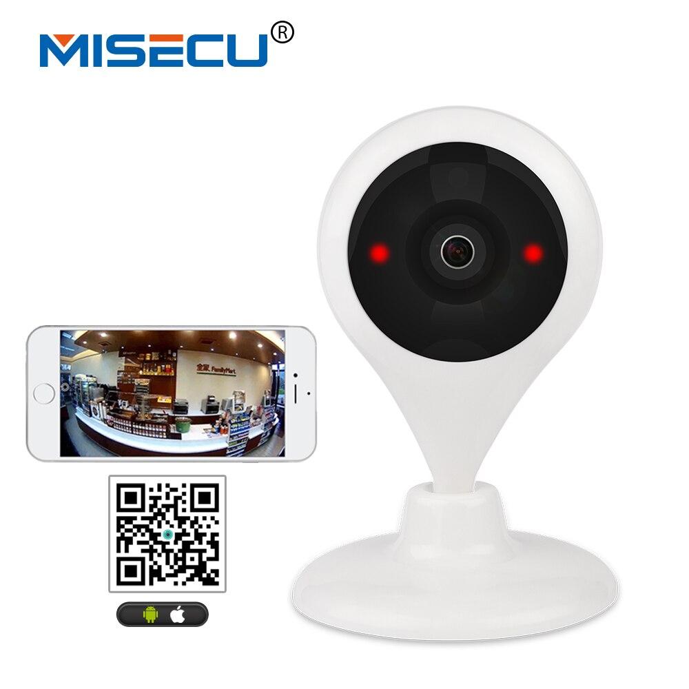 MISECU 180 degrés Panaromic WiFi 1.44mm lentille HD Caméra Sans Fil 64 GB SD P2P 2way audio P2P détection de mouvement Baby Monitor CCTV