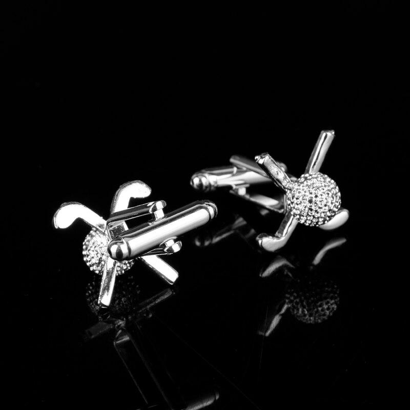 dongsheng Wholesale Jewelry Men s French Sports Golf Ball Cufflinks Novelty Golf Ball Club Cuffs Buttons Pin Cufflinks-40