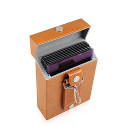 8 places Portable Leather lens Filter storage box Pouch Case bag for Graduated nd Square Filters 100*100mm 100*150mm 8 Slots