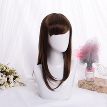 цена на Beautiful Long Straight Brown women Hair Cosplay Wig Synthetic wig Lolita Cosplay Hair Unique Fashion Girl Lolita Wig Cute Hair