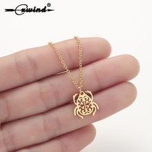 Cxwind Scarab Necklace Beetle Pendant Geometric Stainless Steel Chain Necklace Insect Mujer Necklaces & Pendants Party Gift(China)