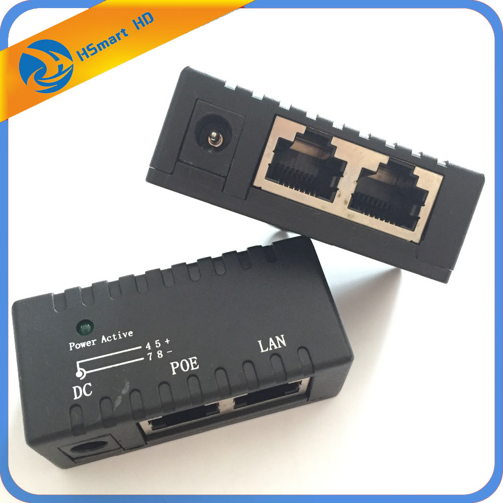 цена на 10/100Mbps 5V 12V 24V 48V/1A POE Injector Power Splitter for IP Camera POE Adapter Module Surveillance Accessories NVR IP CCTV