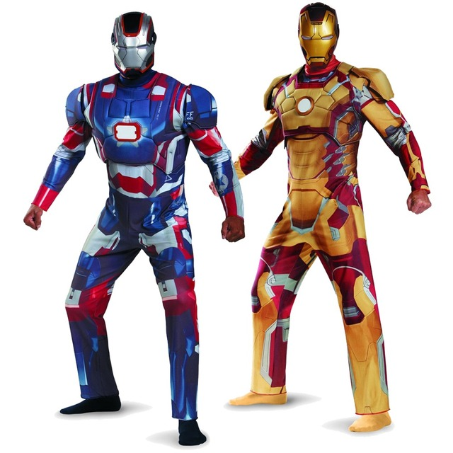 Adult Mens Iron Man Patriot Deluxe Cosplay Costume In Men S Costumes