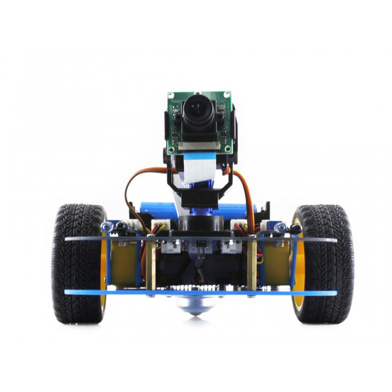 AlphaBot-Pi Acce Pack Raspberry Pi Robot Kit (no Pi) AlphaBot + Camera Module Kit for Raspberry Pi 3B 2B B+ US/EU plug waveshare raspberry pi robot building kit include raspberry pi 3b alphabot rpi camera ir control line tracking speed measuring