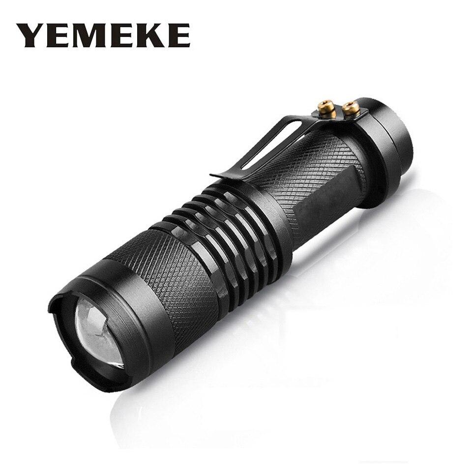 Wysokiej jakości Mini Black 2000LM Wodoodporna latarka LED 3 tryby - Przenośne oświetlenie