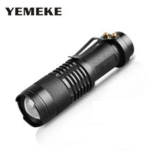 High-quality Mini Black 2000LM Waterproof LED Flashlight 3 Modes Zoomable LED Torch Penlight Lamp Adjustable Bright Night Light