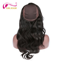 XBL Hair 360 Lace Frontal with Wig Cap Free Part Body Wave Peruvian Human Hair Remy