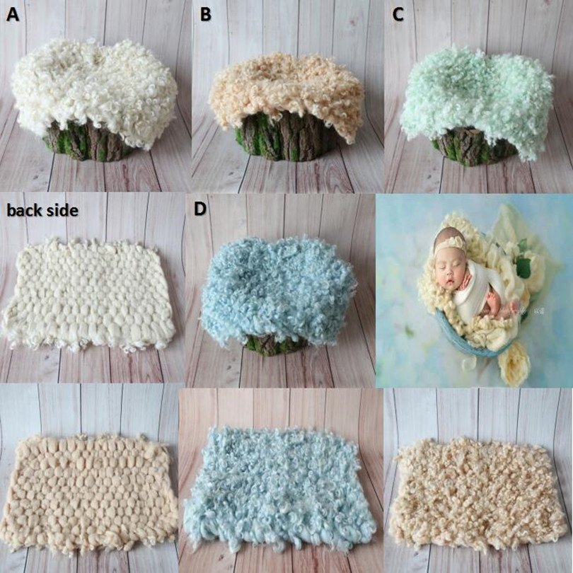 Curly Felt Layer Felted Wool Blanket Curly Wool Layer Fabric Flokati Wool Rug Posing Backdrops Basket Filler Newborn Baby Props