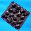 Venda quente (1 pc/lote) Molde Biscuit Molde Do Bolo Do Silicone Molde De Chocolate 16 inseto Borboleta Pequeno Animal Fondant Cozimento ferramenta