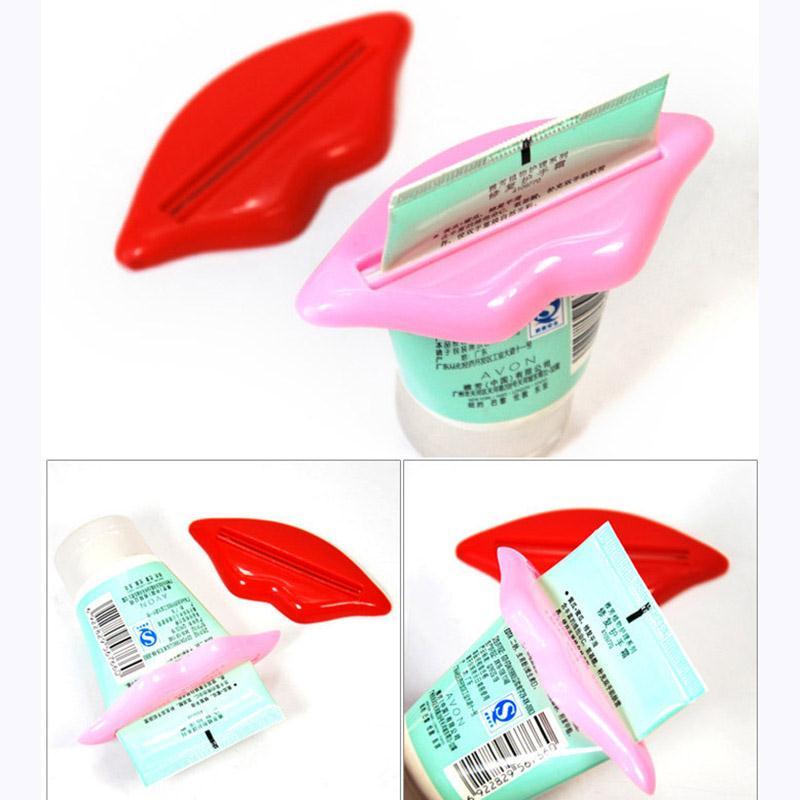 Sexy Lips Kisses Bathroom Tube Dispenser Cream Toothpaste Squeezer Holders Tools