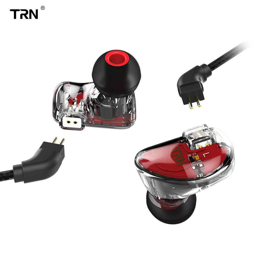 V30 2BA + 1DD trzyosobowy Hybrid sterowniki Bass TRN słuchawki HIFI Monito Sport słuchawki Earplug słuchawki 2Pin odpinany