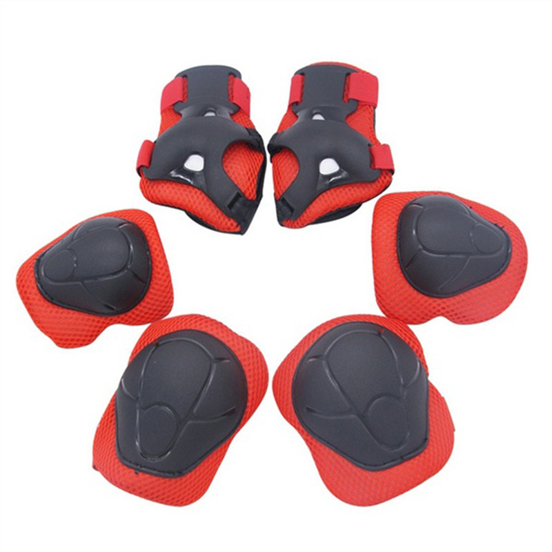 6 Pieces Kids Protector Wrist Knee Protective Gear Twist Car Electric Balance Car Safety Guard Body Safe Household&Tools